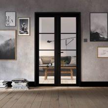 Room Divider Black Soho W4 Doors