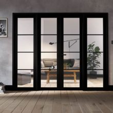Room Divider Black Soho W6 Doors