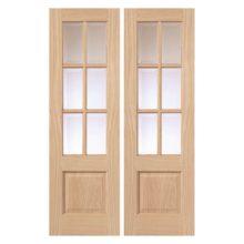 Oak Dove Glazed Door Pair