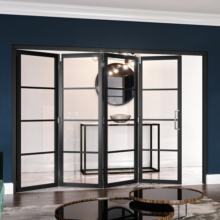 Black 4 Lite Slim-Line Room Divider