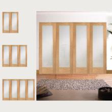 Oak Pattern 10 Obscure Glazed Room Divider