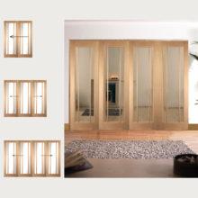 Oak Worcester Clear Glazed Room Divider