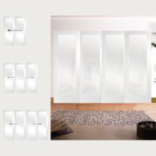 Easi-Slide Primed Pattern 10 Obscure Glazed Room Divider